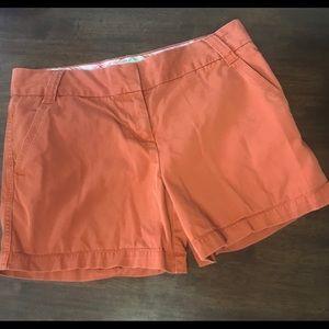 J.CREW Chino City Fit classic Twill Shorts Rust